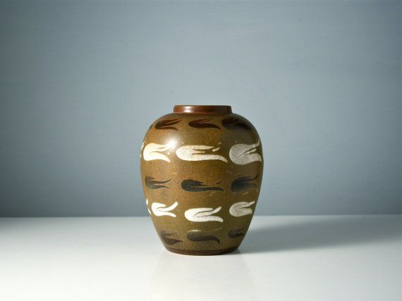 Poole Pottery vase. Hand decorated vase. Ceramic by AnEyeOnStyle