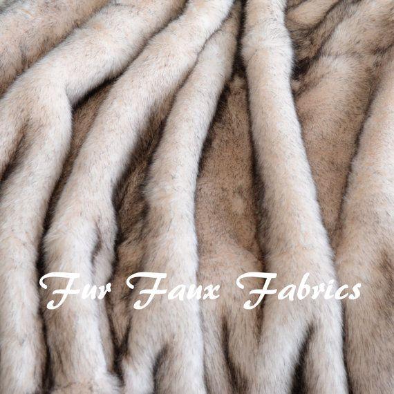 Brown Tip Mink Polar Bear Fur Two Tone Faux Fur by FurFauxFabrics