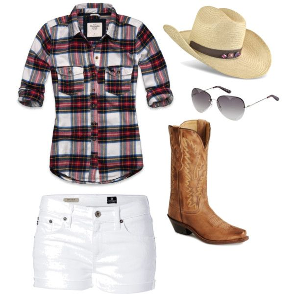 cowgirl, created by hanlynn on Polyvore: Cowgirl Boots, White Shorts, Concerts Outfits, Country Girls, Country Concerts, Summer Outfits, Cowboys Boots, Cowgirl Style, Country Outfits