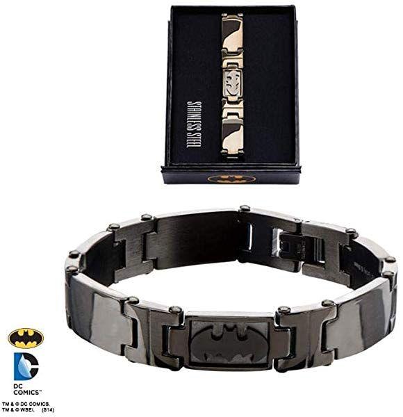 DC Comics Batman Logo Stainless Steel Bracelet