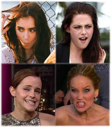 Emma Watson Jennifer Lawrence Kristen Stewart & Lily Collins