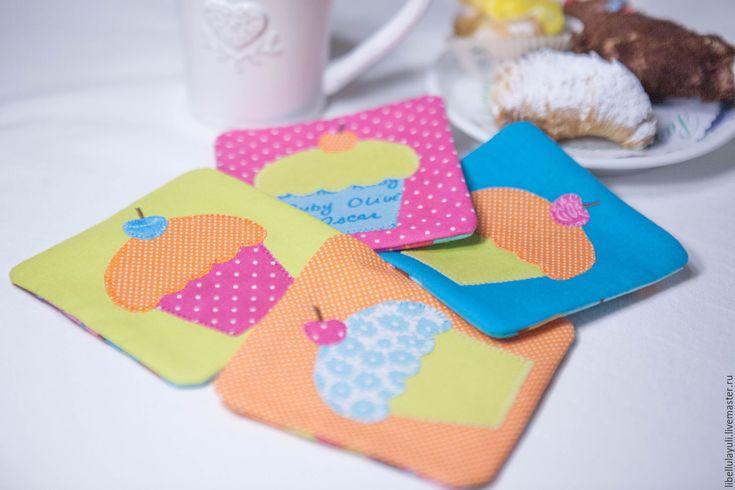 Купить Набор подставок для чаепития - столовый текстиль, текстиль для кухни, набор для кухни, декор кухни