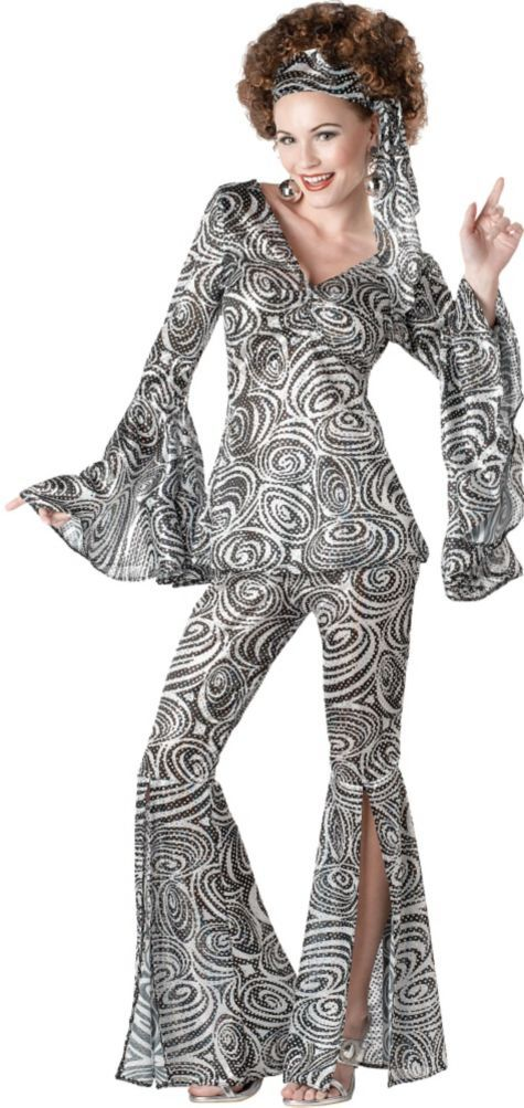 Adult Foxy Lady 70s Disco Costume - Party City April Bowling Disco Theme, Groovin' outfit.