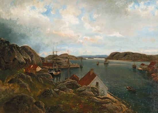 Johan Nielssen (1835-1912): Tordenvær, Ny-Hellesund