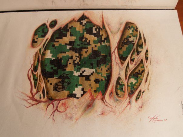 Marine Tattoo by ninagolemi.deviantart.com on @deviantART