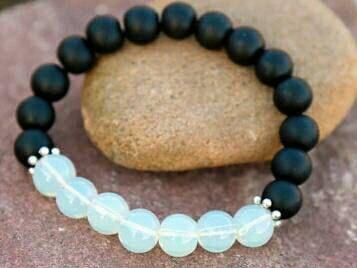 Check out this item in my Etsy shop https://www.etsy.com/ca/listing/499191803/onyx-opalite-bracelet-yoga-bracelet