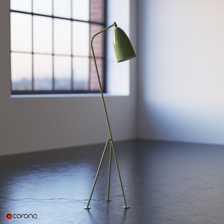 Greta Grossman Grasshopper floor lamp | Vladimir Pospelov 3d artist Blog