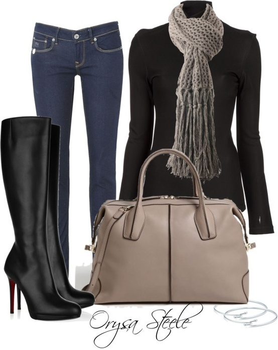 high boots are my life!  <3: Fall Fashion Outfits, Weekend Outfit, Chic Outfits, Black Boots, Fashionista Trends, Fall Outfits, Winter Outfits, Fallfashion, Fashion Fall