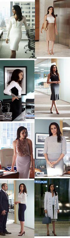 Os looks da Rachel Zane em Suits. Uma série de pessoas elegantes.
