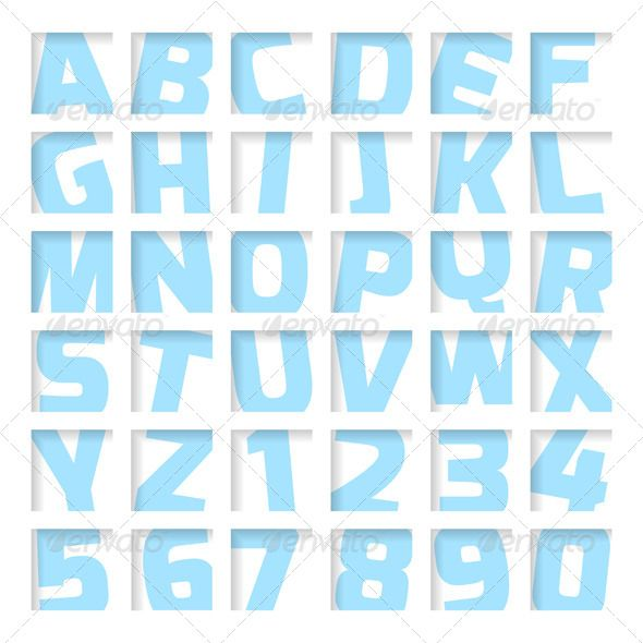 Blue Letters and Numbers