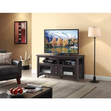 """Whalen TV Stand for TVs up to 60"""", Espresso"""