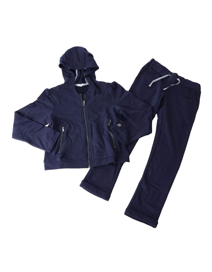 Boss Navy Girls Hooded Sweat Tracksuit | Accent Clothing