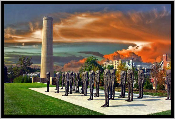 Magdalena Abakanowicz , Polish , b. 1930 Standing Figures (Thirty Figures), 1994-1998 Bronze A (figures): 6 feet 2 inches Nelson-Atkins Museum of Art, Kansas City.