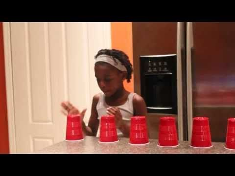 eXCELLENT VOICE AND ALSO TUTORIAL The Cup Song Singing with 11 Cups by 9 year old Chelsea - YouTube