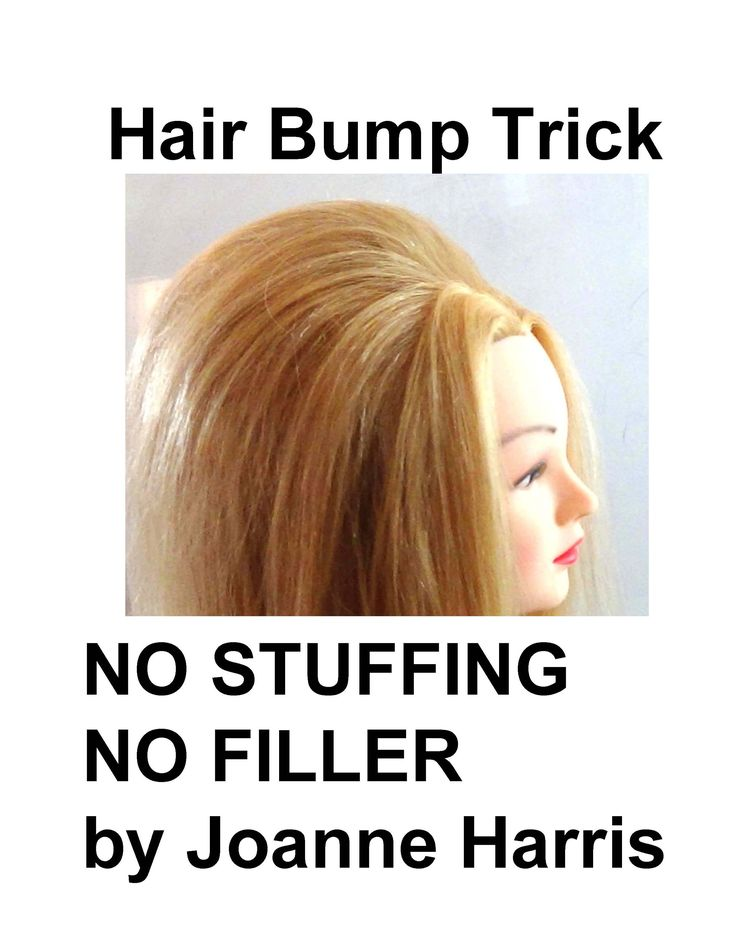 HOW TO DO A HAIR BUMP NO STUFFING NO FILLERS TRICK My best secret of all...