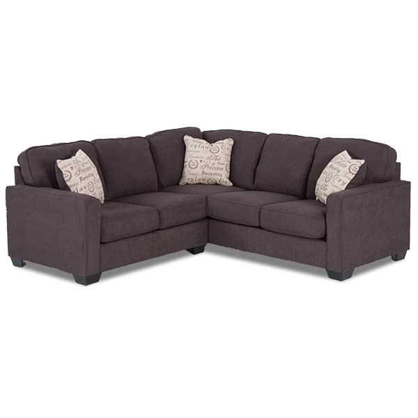 2pc Charcoal Sectional with RAF Sofa - $648 American Furniture Warehouse