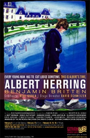Internationally celebrated painter, Elizabeth Peyton, contributed her artwork for the poster of the Gotham Chamber Opera's production of Albert Herring.
