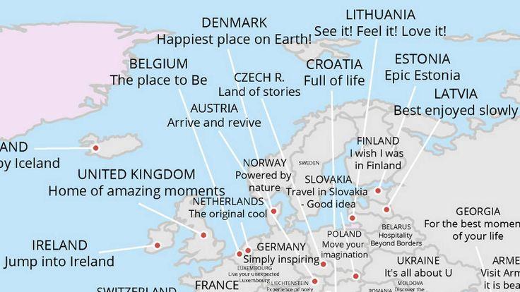 Se hvordan alle verdens land selger seg som reisemål - Aftenposten