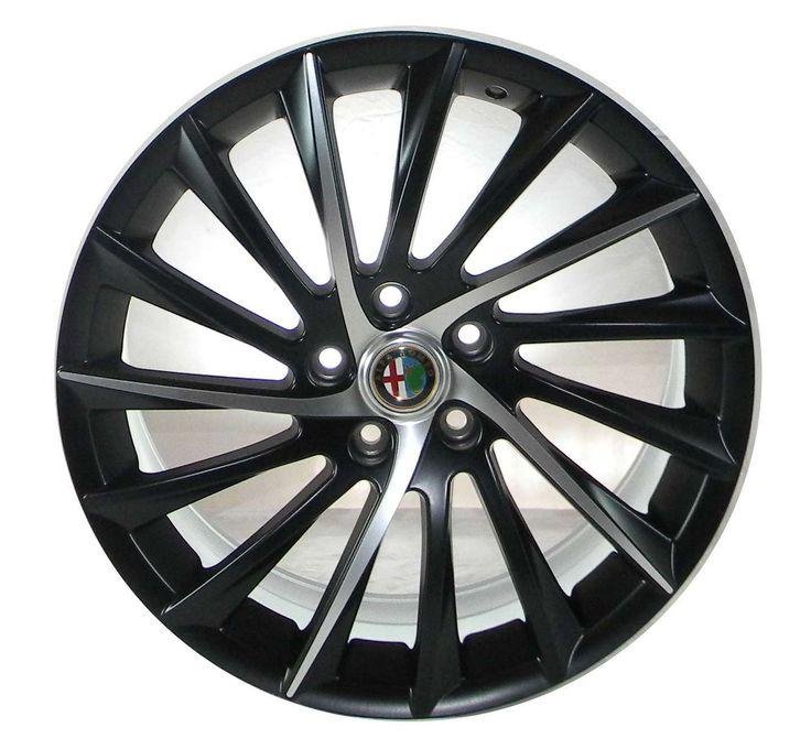Cerchi in Lega Replica Alfa Romeo Giulietta 997 Nero Opaco DiamantatoCerchi In Lega Audi Bmw Fiat Ford Peugeot Renault Pneuamtici Prezzi bassi Economici
