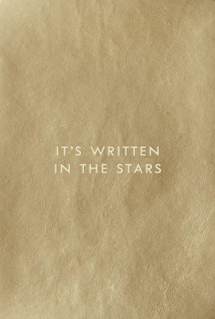 It's written in the stars.