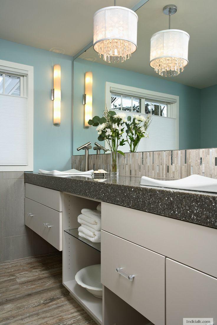90 best kitchen countertops images on pinterest kitchen for Lake cottage bathroom ideas