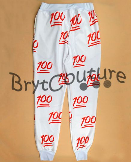 BrytCouture - 100 Emoji Limited Edition Joggers Sweatpants - White, US$52.99 (http://www.brytcouture.com/100-emoji-limited-edition-joggers-sweatpants-white/)