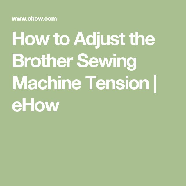 sewing machine tension problems