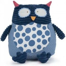 Annabel Trends Pillow Pals Owl Cushion Navy