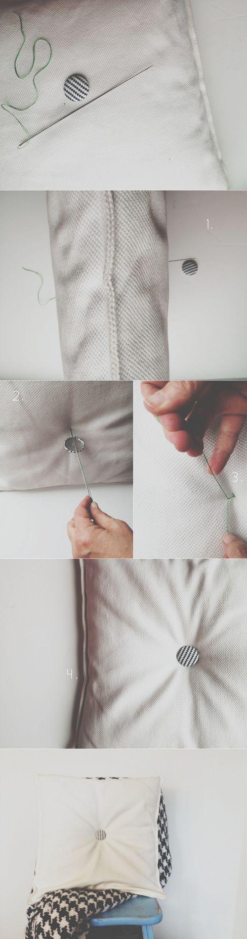 DIY Tufted Pillow / Cusion