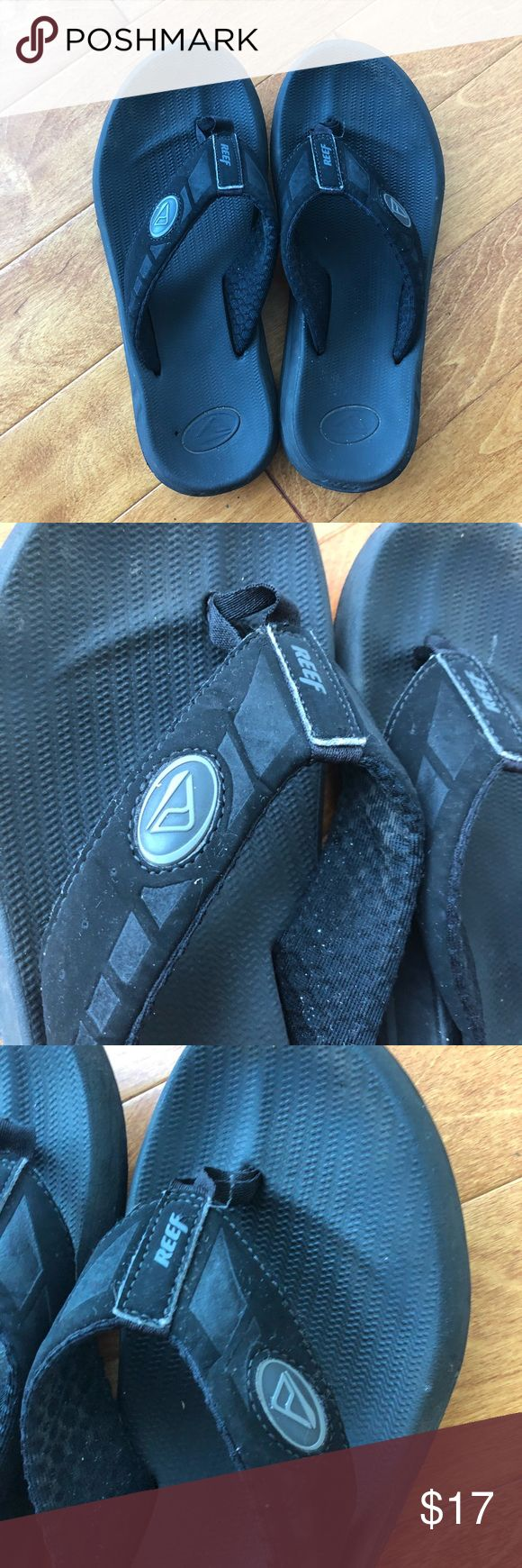 Men's reef flip flops, slippers, sandals, size 10 Gently used. As pictured. Reef Shoes Sandals & Flip-Flops
