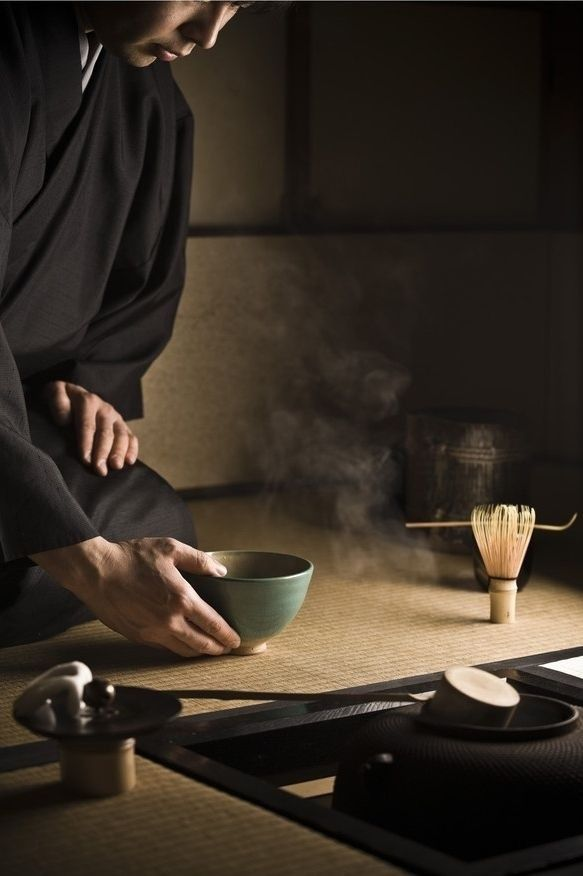The ritual preparation of tea is very simple, simplicity is one of the basics for preparing a bowl of green tea for the guests. However, each step of the preparation has fixed movements, and utensils have to be placed at pre-decided locations on the Tatami mat. It is drinking tea and serving tea with a lot of spiritual depth and a deep silence and serenity.