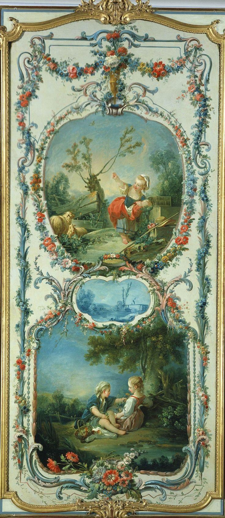 FRANCOIS BOUCHER.  Аллегория Животноводства и Садоводство (1750-1752)