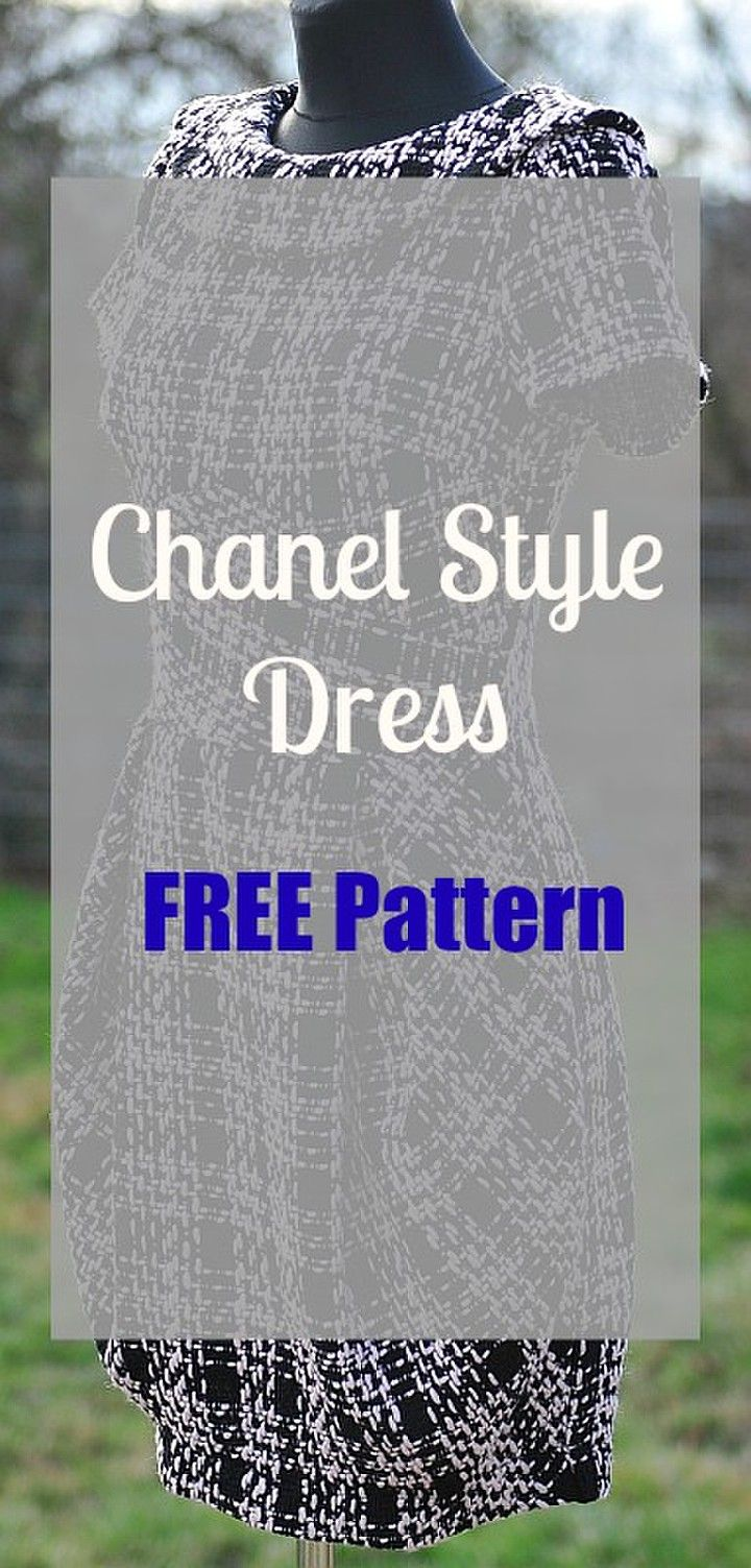 Chanel Little Back Dress - FREE sewing pattern