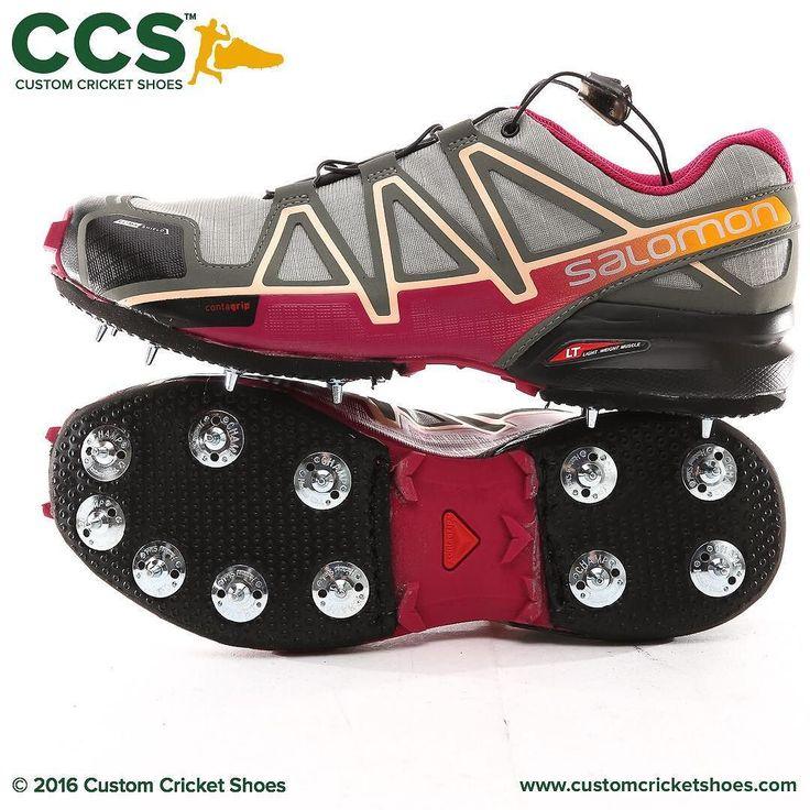 Sunshine Coast Scorchers gun Allrounder Charlotte Lutz #customcricketshoes #salomon #SpeedCross #risingstar @qldcricket