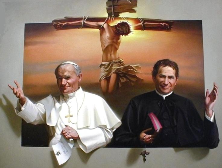 Juan Pablo II y San Juan Bosco
