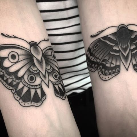 Image result of butterfly tattoo old school