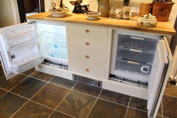 Built in under counter fridge and freezer.