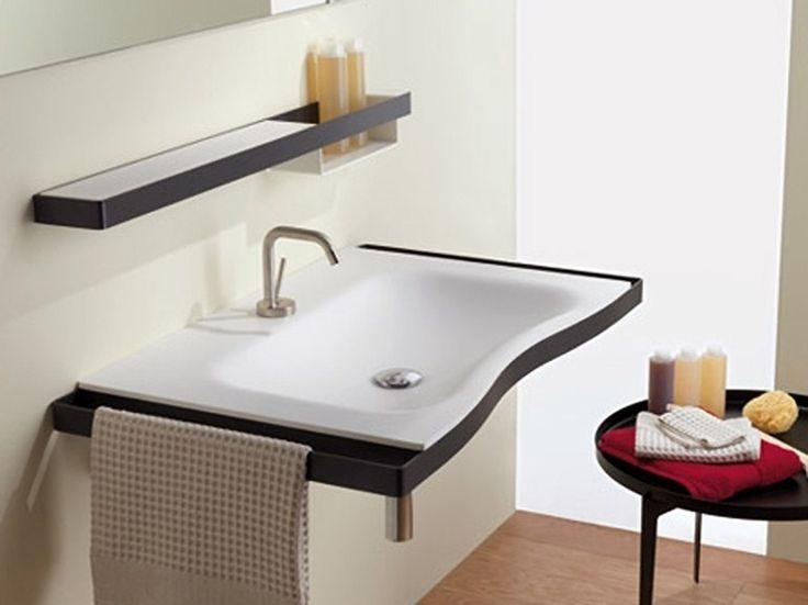 Lavabo a consolle con porta asciugamani FLAT Collezione Family by MIDIOPLAN® by PONTE GIULIO   design Daniele Trebbi