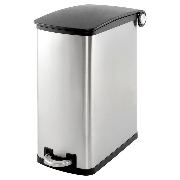 Simply Kleen 45-in. Galvanized Slim Garbage Can