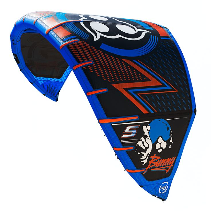The smallest kite in the range has always been very likeable, with almost no weakness. Stable, responsive, but not too fast, makes Bunny a wave rider's dream in strong winds and an absolute must have for all lighter weight riders. Improvements include a slightly lower bar pressure and improved lift and upwind capabilities.