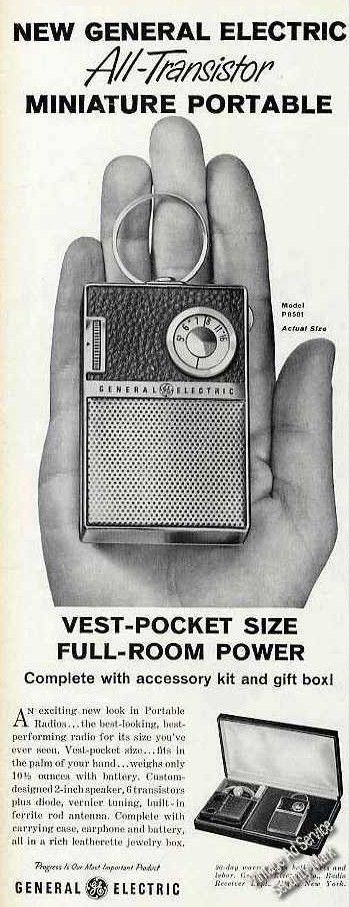 General Electric transistor radio ad
