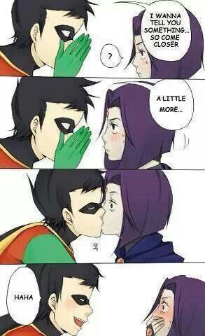 Robin and Raven! I shipped them at one point but, I now realize that she's a better match for Beast Boy (;