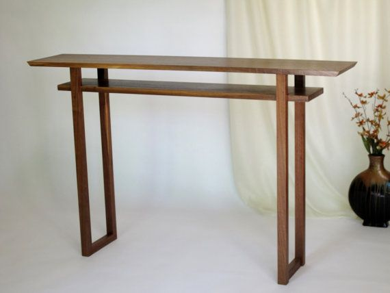 Modern Console Table: Narrow Hall Table/ Entry Table- Wood Furniture