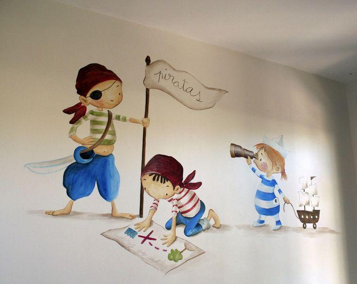 dibujos de piratas para paredes - Cerca amb Google