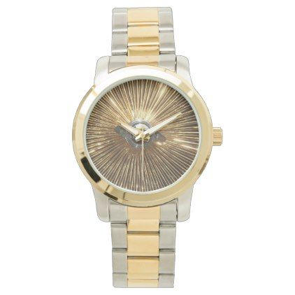 Gold Lowrider Spokes Wire Wheels Watch - gold gifts golden customize diy