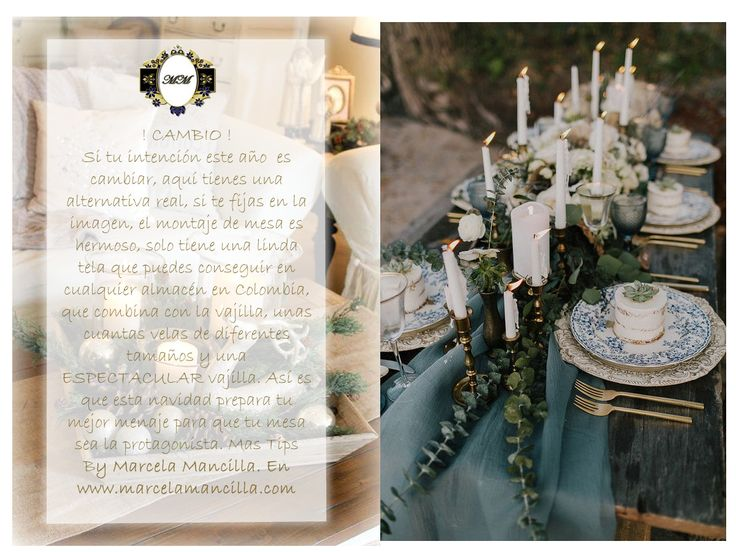 ¿ Ya decoraste tu mesa para navidad? Aqui un excelente tip para que quede espectacular  http://www.marcelamancilla.com   eventos@marcelamancilla.com