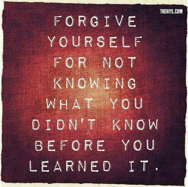 Trying. Forgive myself. Trying.
