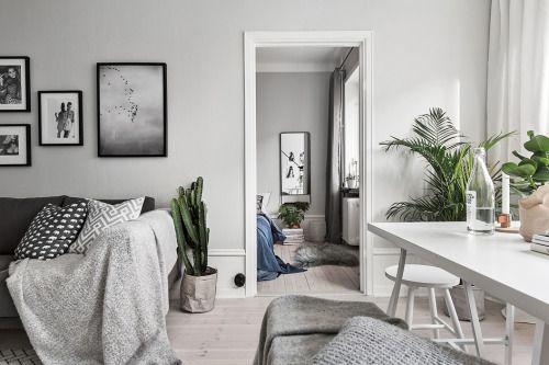 Soft grey tones in a Stockholm apartment via Swedish brokerSkandiaMäklarna| Styling by Jesper Laursen|Photo by Adam HelbaouiFollow Style and Create at Instagram | Pinterest | Facebook | Bloglovin