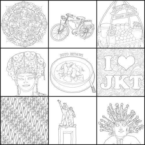 Ngintip isi buku #JakartaColoringBook 03, from @penerbitharu @ColoringBookID bisa didapat di Gramedia sekarang. #betawi #jakarta #jakartaindonesia #indonesia #jkt #exploringjakarta #ilovejakarta #batik #indonesianbatik #adultcoloringbook #coloringbook #bukumewarnai #mewarnai #drawing #sketsa #sketch #doodles #doodle #doodling #hobby #arts #masbambi #masbe #mas_be #bambibambanggunawan #karyamasbambi #klikbatavia #ahok #temanahok