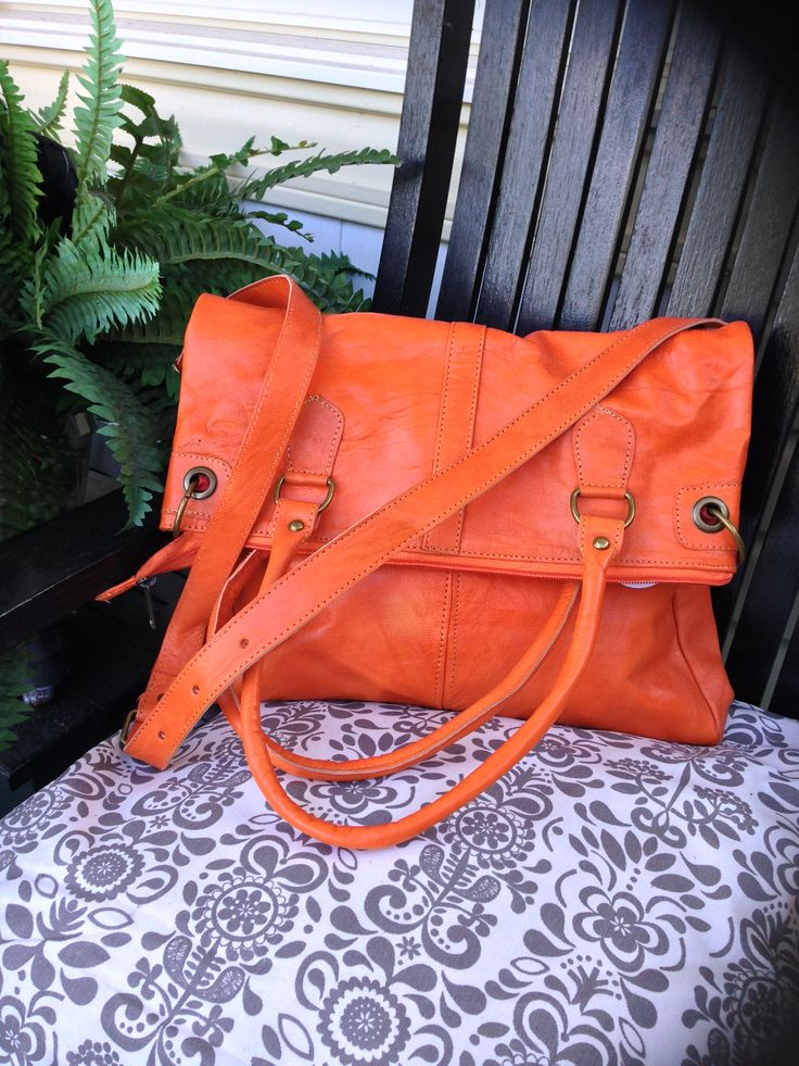 Brilliant!  See the Earth Satchel in Orange!  #one1earth